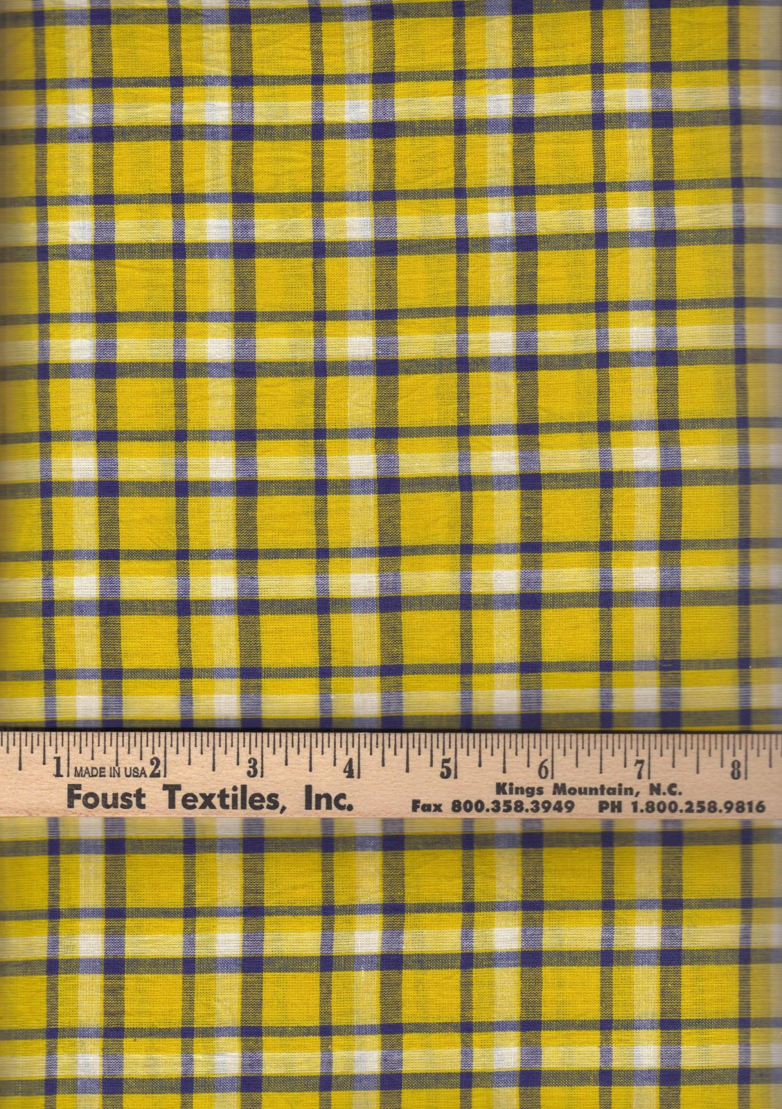 PROMO* TC-Madras Plaid MA 189 Yellow