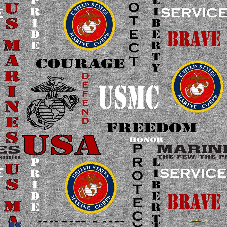Sykel-Military Cotton 1181M Marines Heather Print