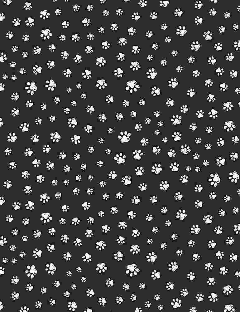 TT-Paw C8242 Black - Sketched Paw Prints