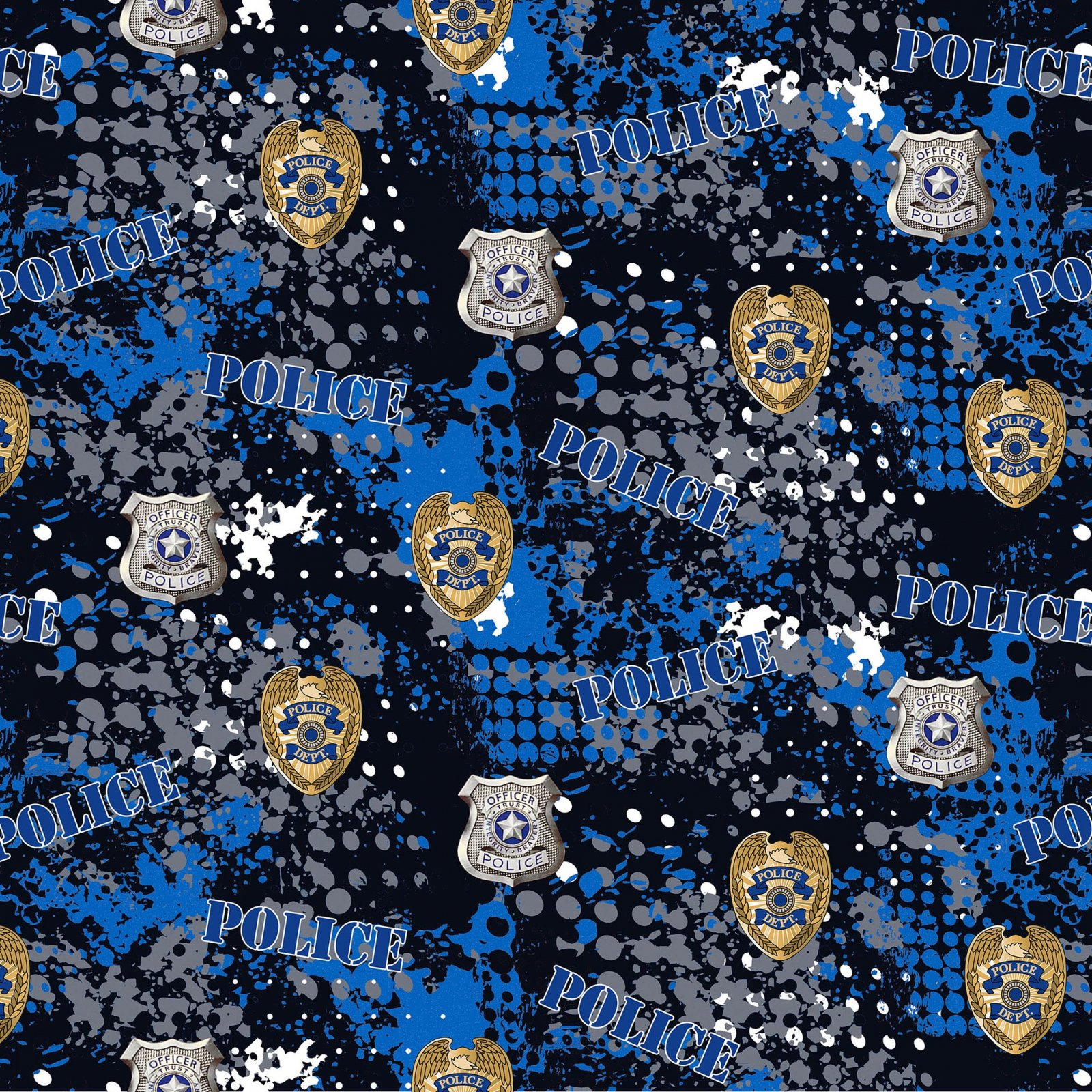 Sykel-Police Cotton 1180 Police Abstract Geo Logo