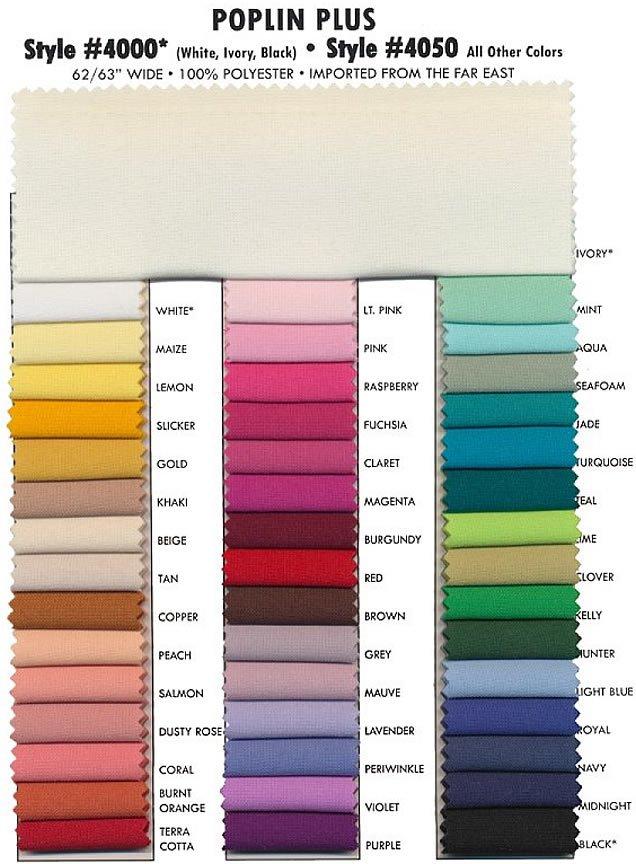 Poplin #4050 Colors