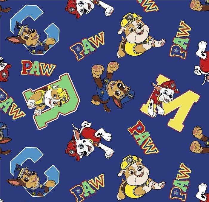 DT-Paw Patrol Fleece PW-4367-0A-3 Navy - Paw Alphabet Fleece