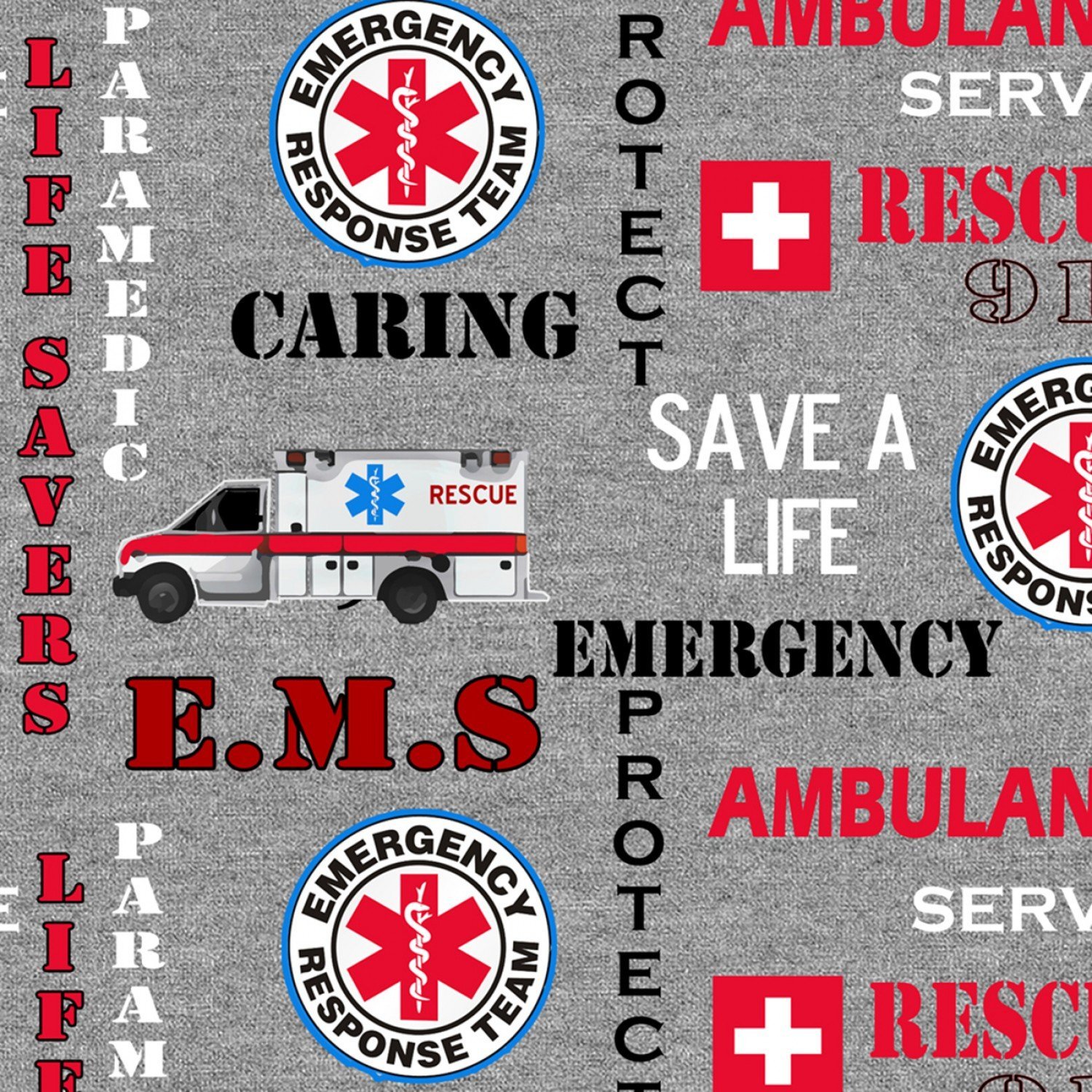 Sykel-EMS Cotton 1181 Rescue 911 Emergency Seal Heather Print