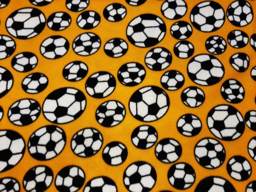 PROMO* FT-Sports Ball Fleece Prints MFP-300-05 Gold - Soccer