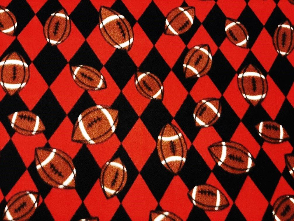 PROMO* FT-Sports Ball Fleece Prints MFP-301-07 Red/Black - Footballs