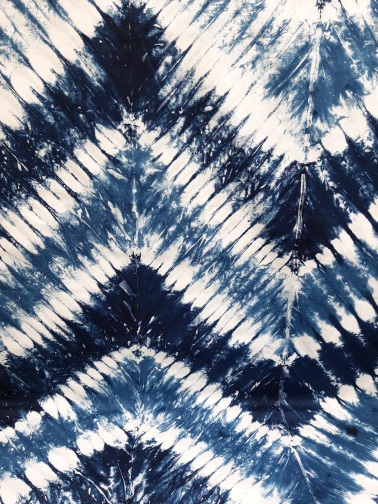 PROMO* BF-Indigo Batik - Tie Dye Feather Blue