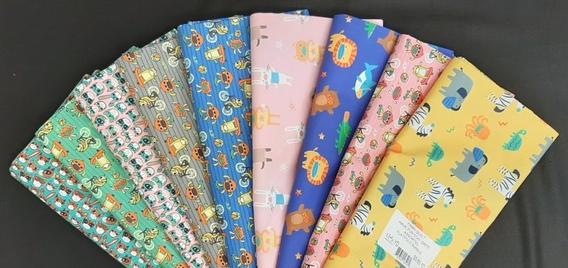 PROMO* Flat Fold Assortment - Have Fun/Stay Safe! Bundle by Fabri Quilt