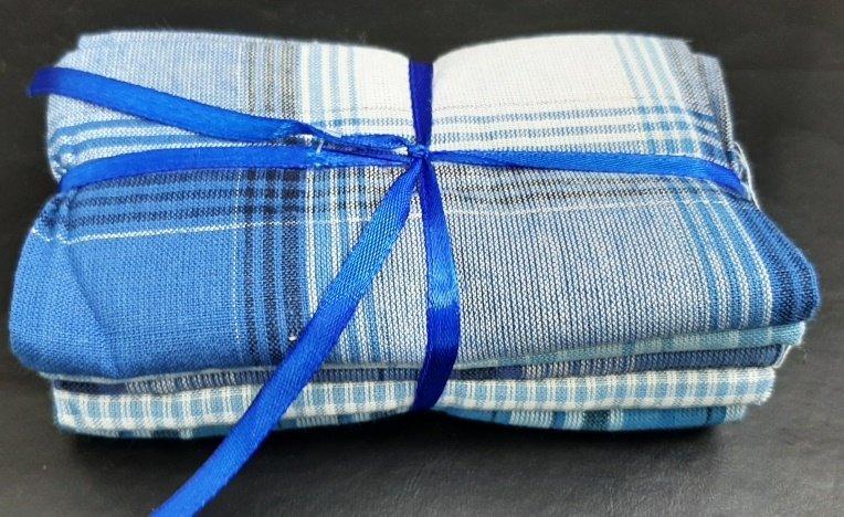 PROMO* FE-Fabric Palette Fat Quarter Bundles - Homespun Blue Bundle
