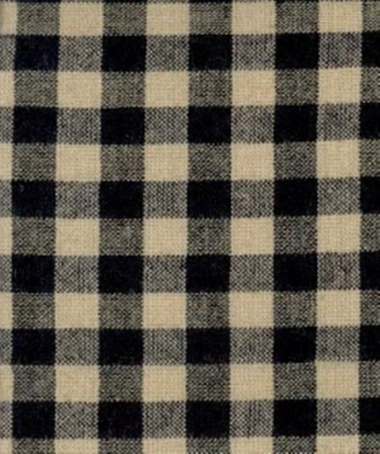 TC- Basic Homespuns RW 7039 - 1/4 Natural/Black Check