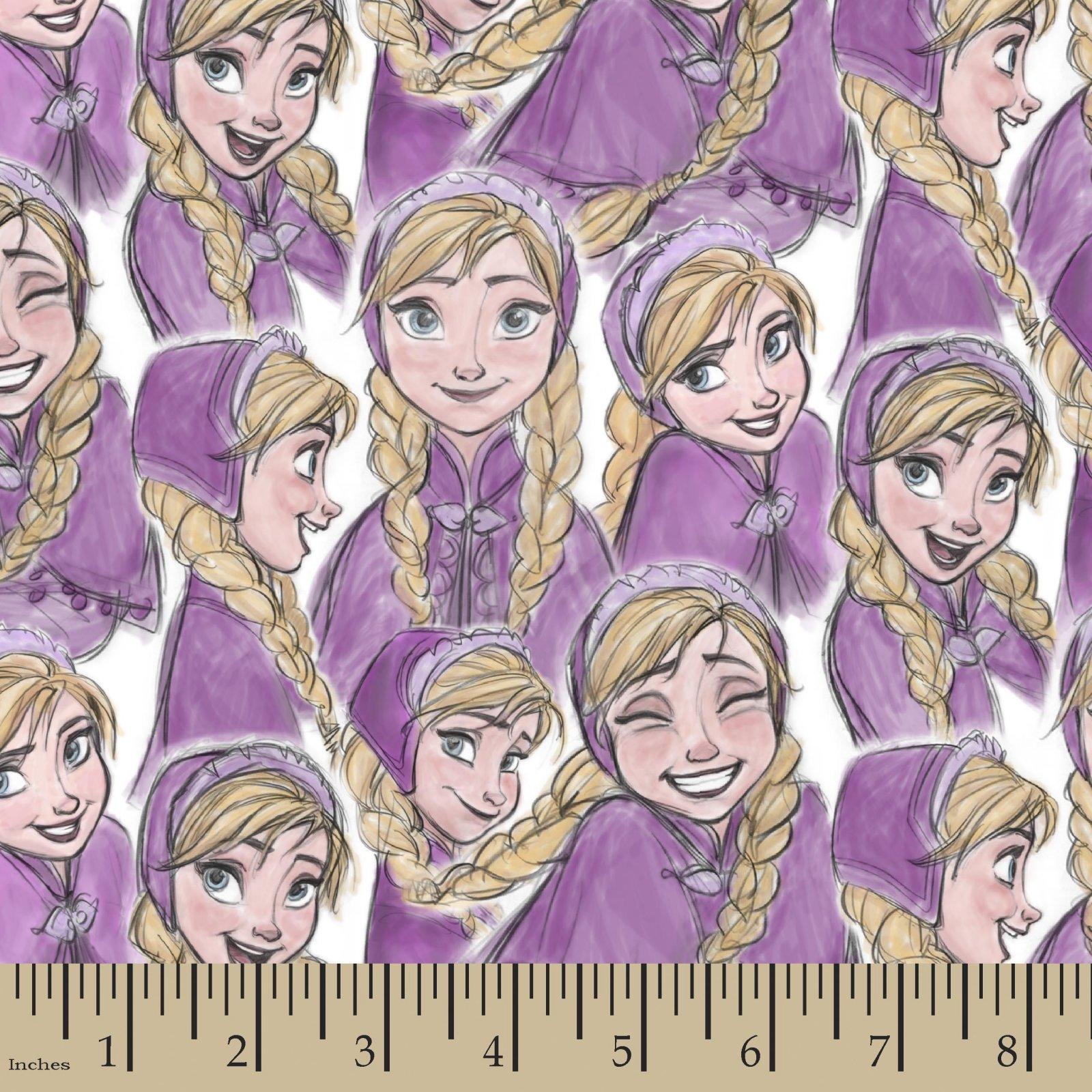 SC-Licensed Knits 56629 Disney Frozen - Anna Sketch