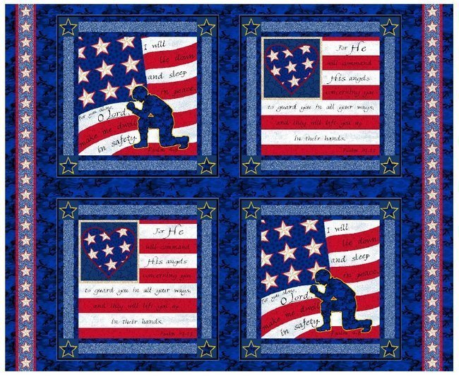PROMO* SC-Soldiers Prayer Pillow Panel 50412