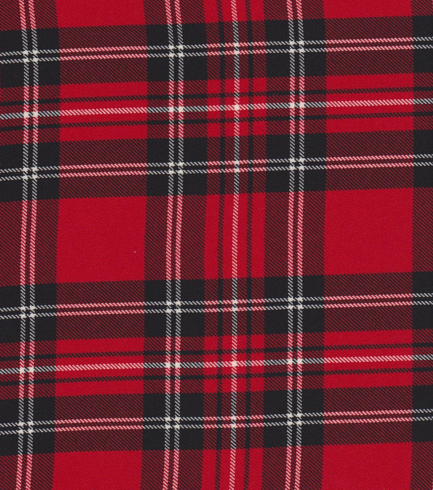 FT-Scottish Tartan Plaid NWR/NRC Red