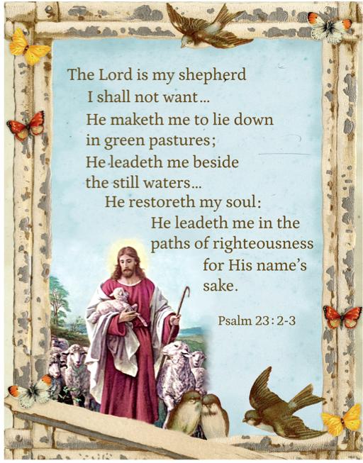 DT-Digital Prints DX-1350-1 Multi - 23rd Psalm 44 x 36 Panel