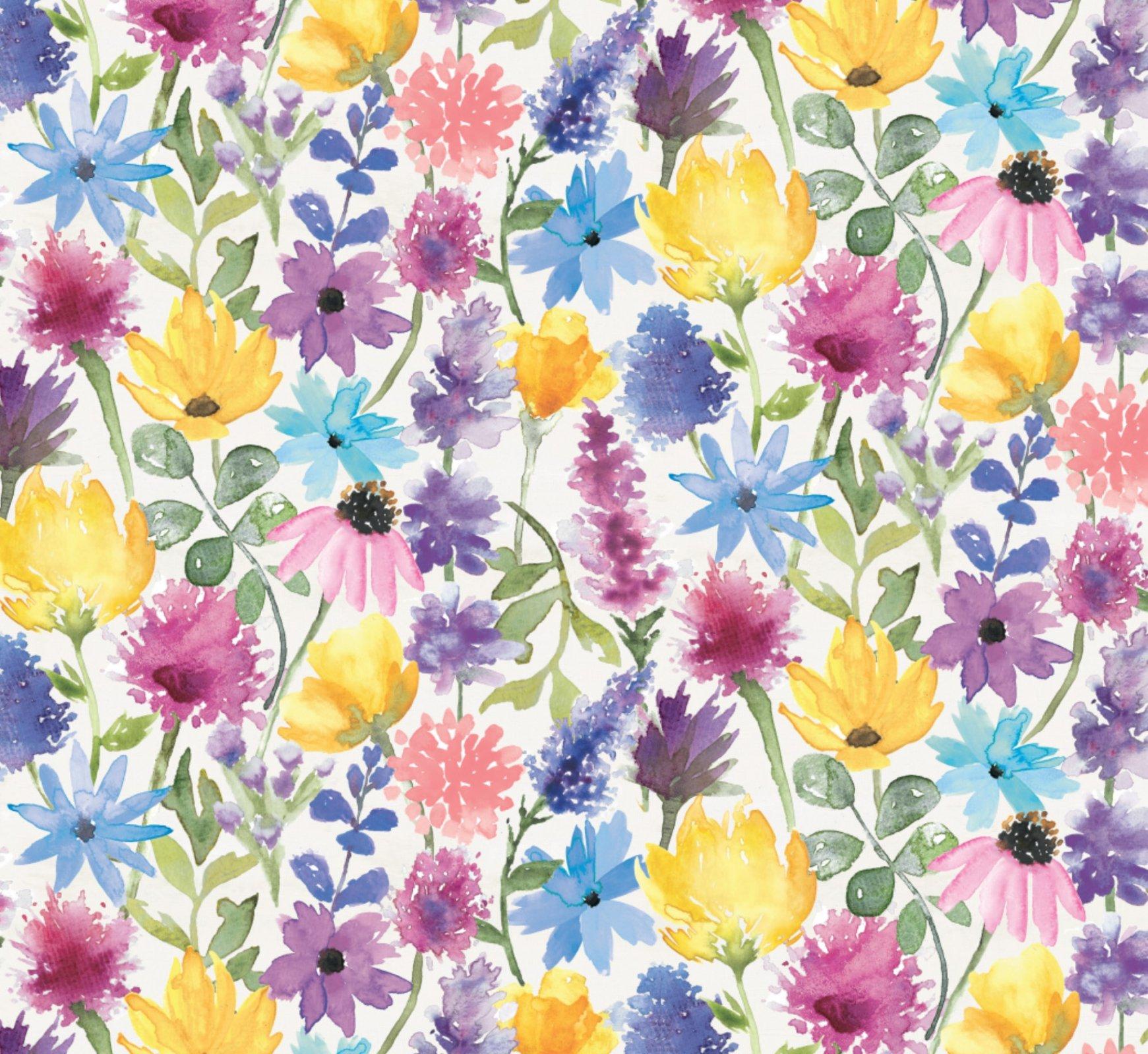 DT-Bee Harmony WA-5885-0C-1 White - Floral Harmony