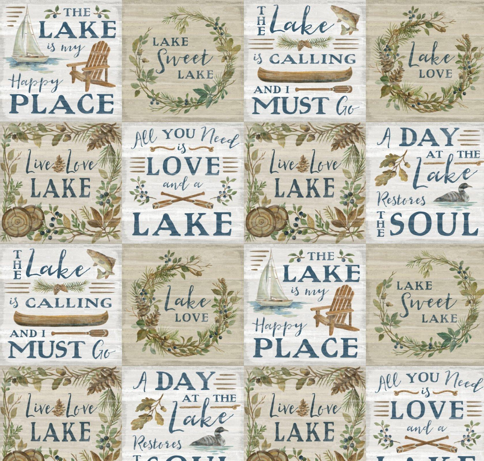 DT-Lakeside Retreat WA-5908-0C-1 Tan/Multi - Lakeside Patch