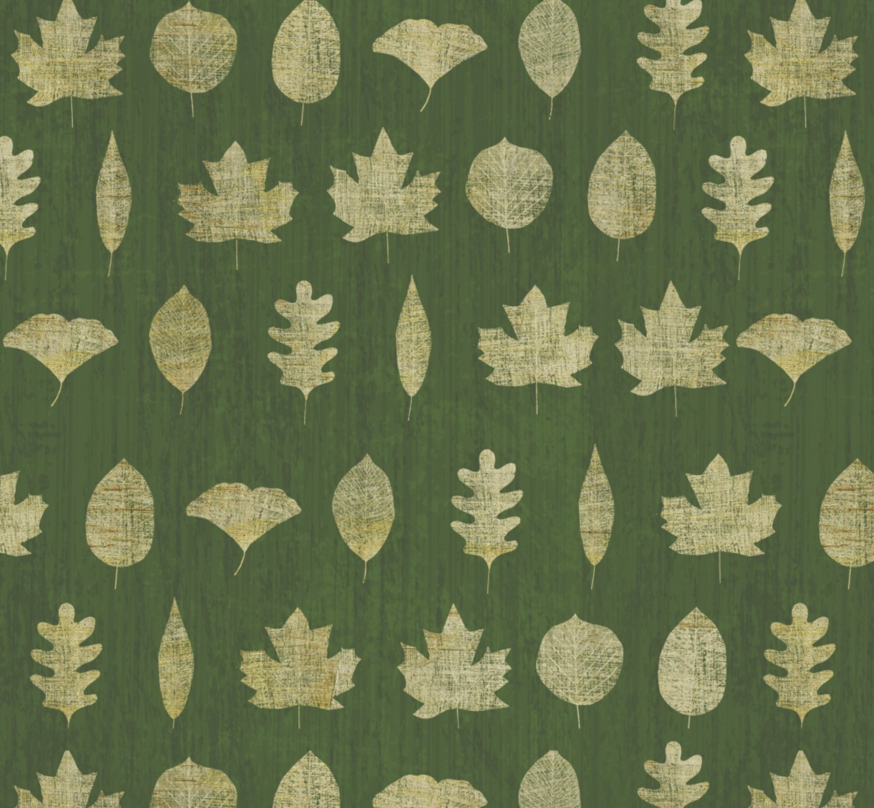 DT-Lakeside Retreat WA-5911-0C-1 Green/Gold - Leaf Silhouettes