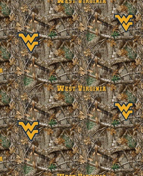 WV-NCAA Realtree Edge Digitally Printed Cottons WV-1163