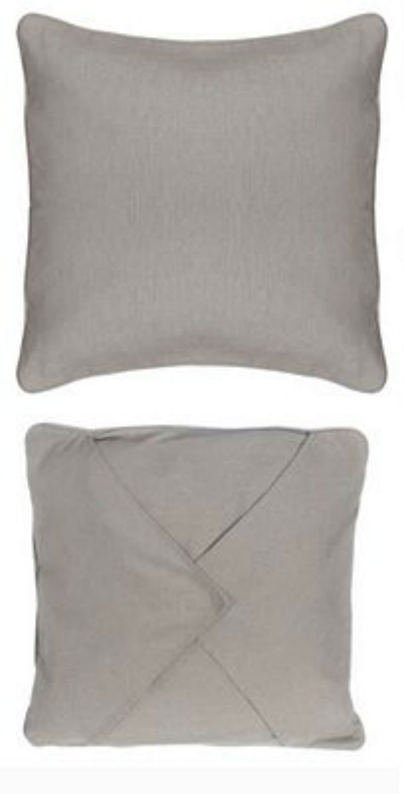 Easy as 1-2-3 Embroidery Pillow - 14 Grey