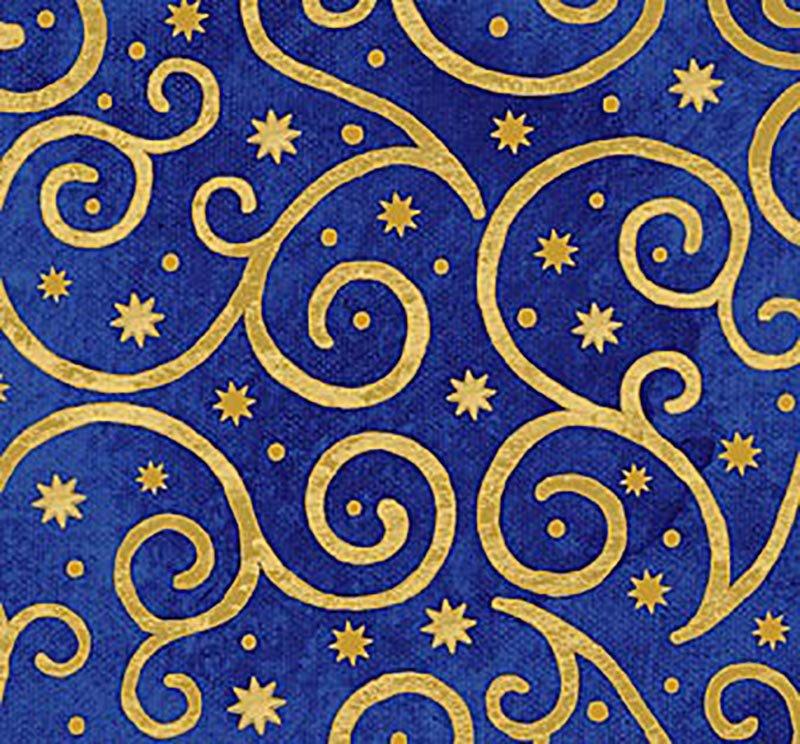 Angels Above - Swirls & Stars Royal 22894M-49