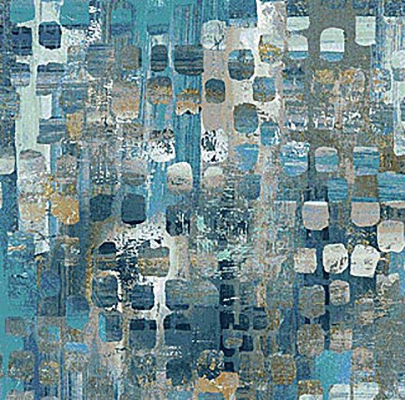 Reflections - Tiles Dark Blue 22951-44