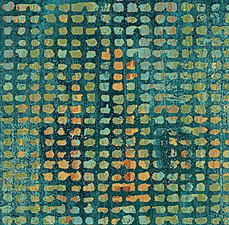 Reflections - Grid Teal 22952-66
