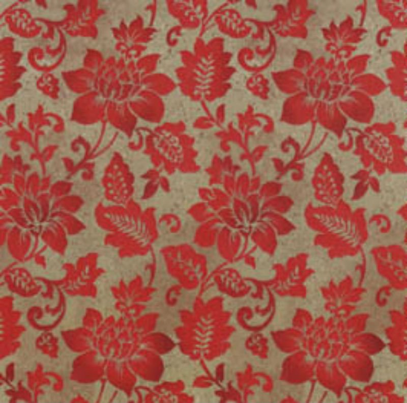 SALE Holiday Stitches - Red Flowers on Beige S 24918-Red1