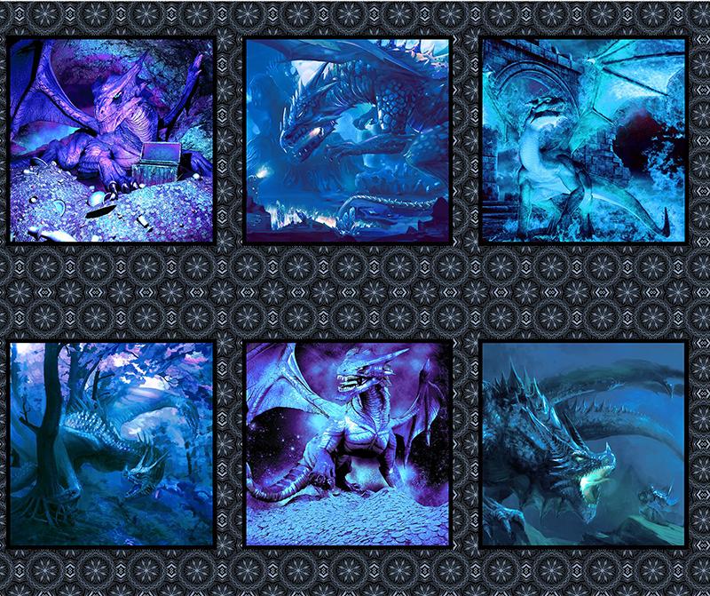 PANEL Dragons - Small Dragon Blue 2DRG 2
