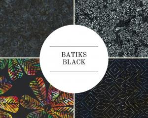 Batiks - Black