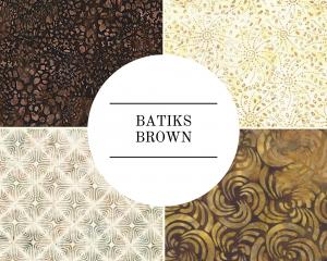 Batiks - Brown