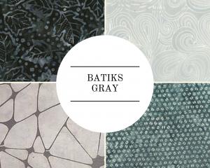 Batiks - Gray