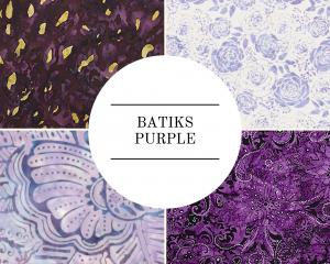 Batiks - Purple