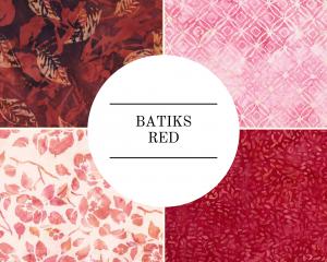 Batiks - Red