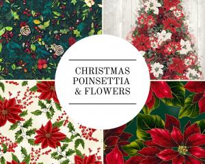 Christmas - Poinsettia & Flowers