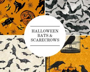 Halloween - Bats & Scarecrows