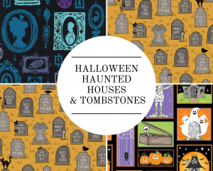 Halloween - Haunted Houses & Tombstones