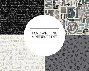 Handwriting & Newsprint
