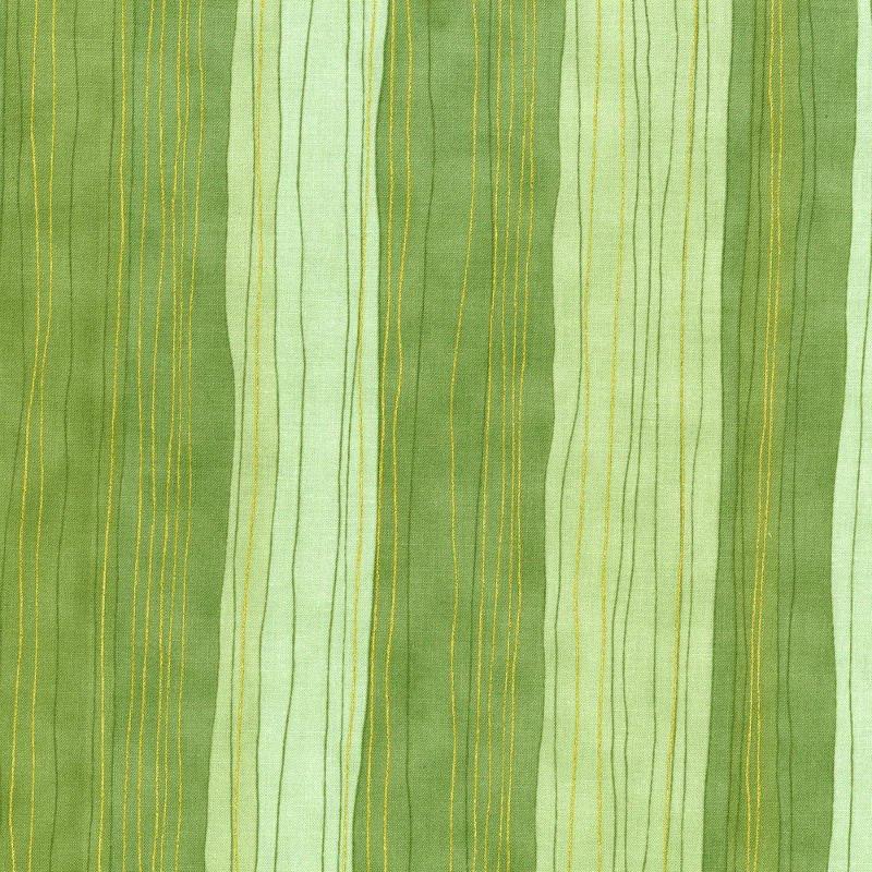 SALE Shiny Objects Holiday Twinkle - Sterling Stripe Pistachio 3023-8
