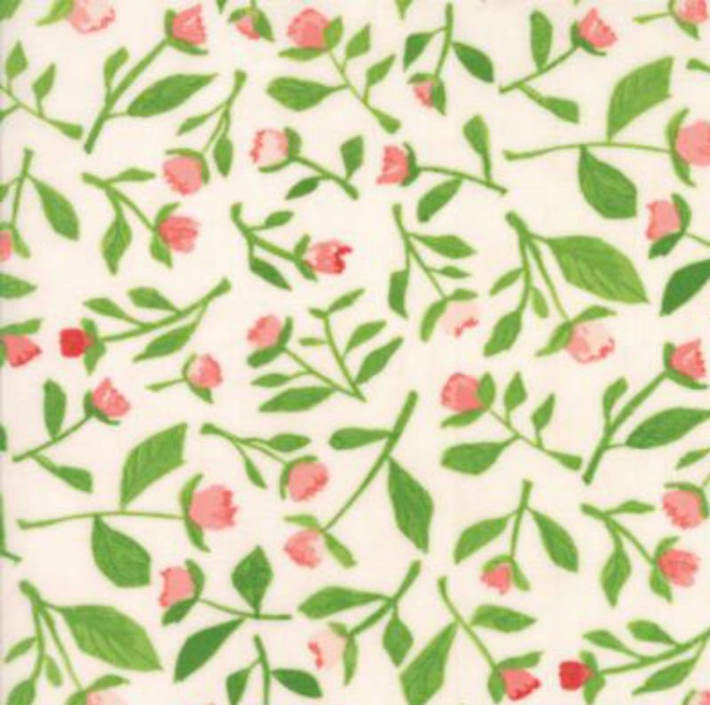Hazelwood - Tiny Floral Buds Coral 36013-18