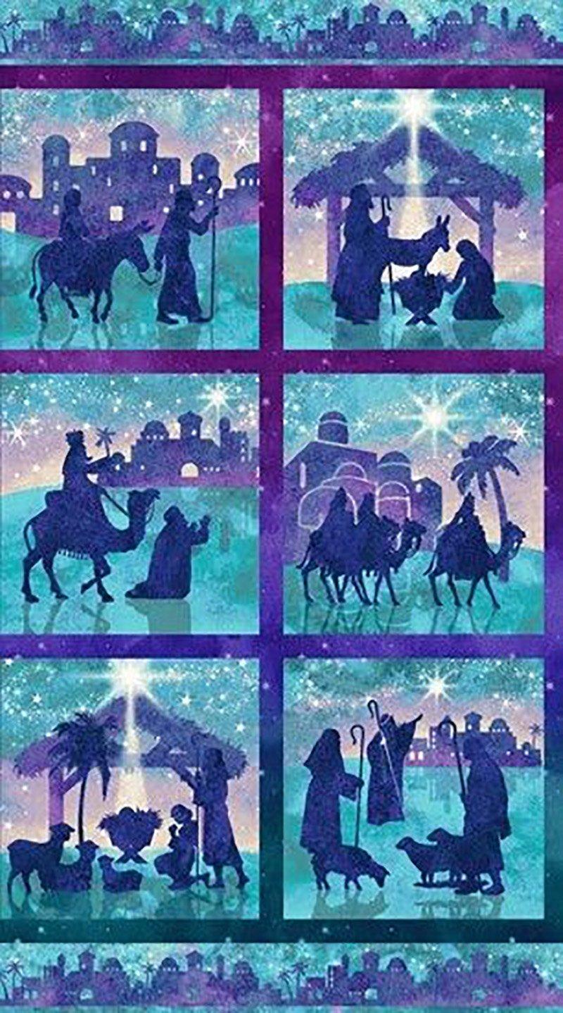 panel stonehenge joy to the world tiles of nativity characters purpleaqua 39392 68