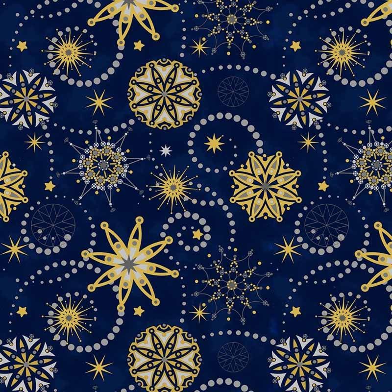 SAlE Starlight - Snowflakes Dots Blue 4594-2