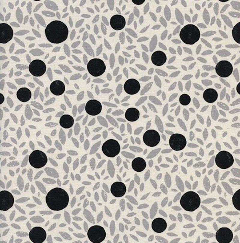 SALE Black & White - Petals Grey 5123-1
