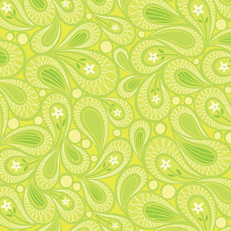 Free Motion Fantasy - Paisley Lime 5445-42