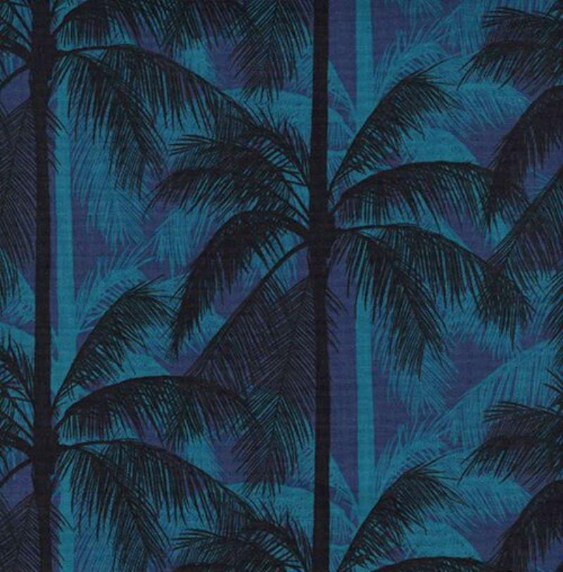 Poolside - Palms Blue 6014-2