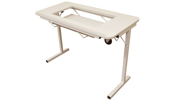 Crafty Folding Sewing Table White