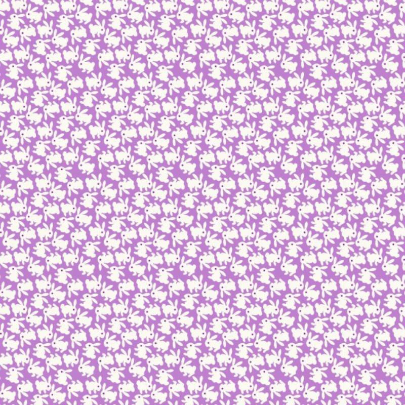 Nana Mae - White Bunnies on Purple 6714-55