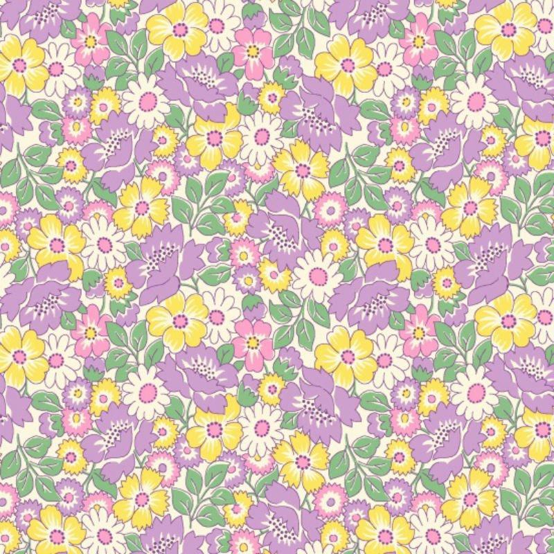 Nana Mae II - Packed Flowers Lavendar 6923-55