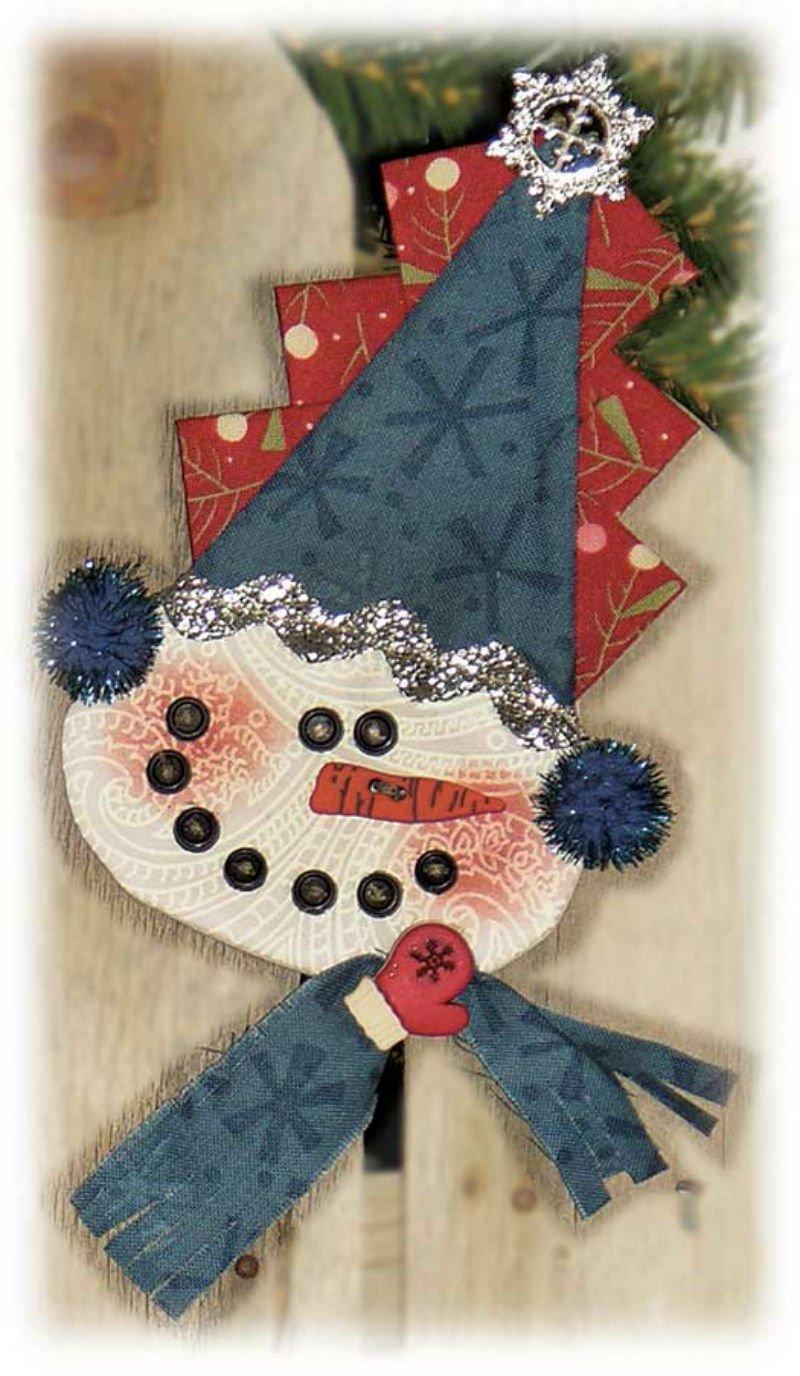 SALE KIT Peppermint Cheesecake Ornament - Snowman