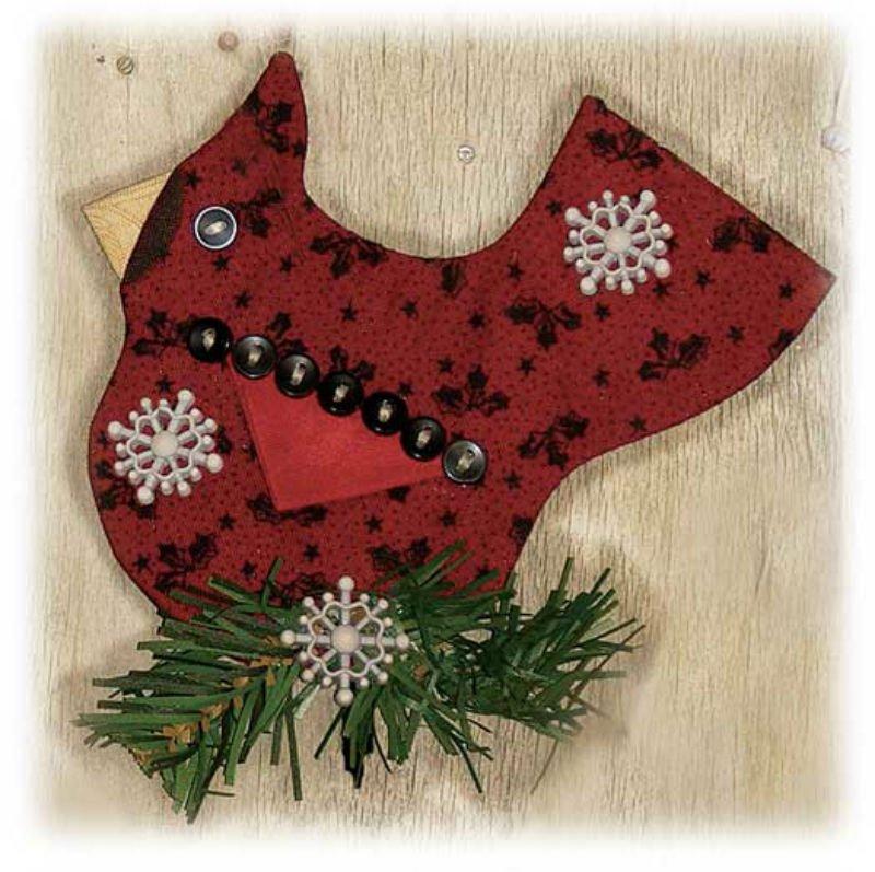 KIT Peppermint Cheesecake Ornament - Cardinal