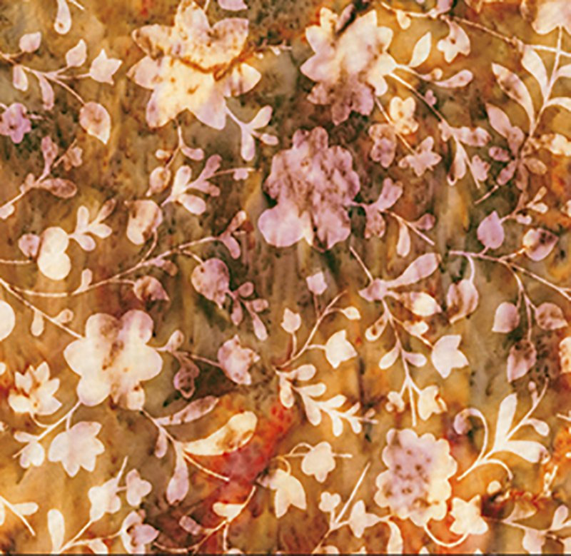 Love to Wear Batik Rayon - Floral Silhouettes Amber 82114-37