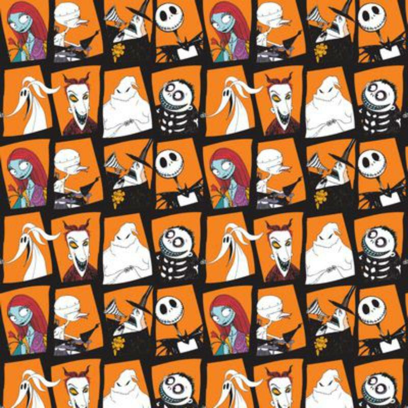 SALE Nightmare Before Christmas - Character Blocks Orange 85390107-2